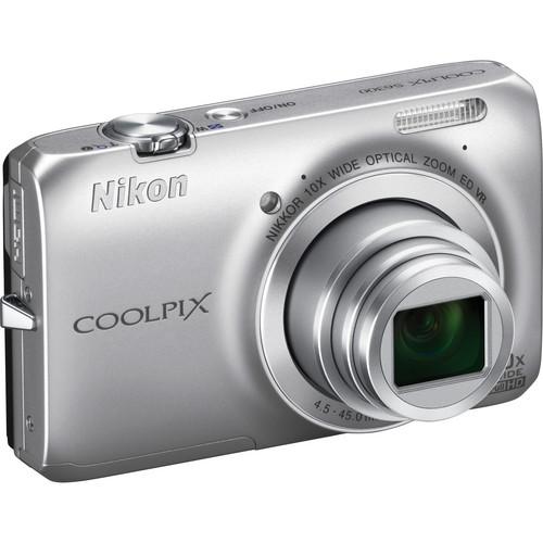 Nikon Coolpix S6300 Digital Camera (Silver)