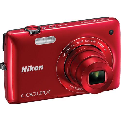 Nikon Coolpix S4300 Digital Camera (Red)