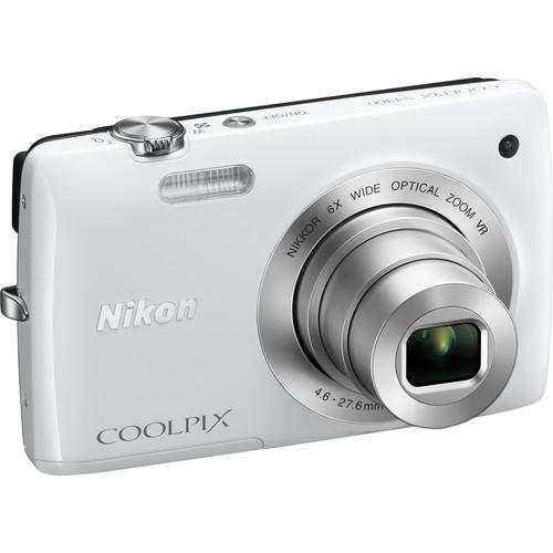 Nikon Coolpix S4300 Digital Camera (White)