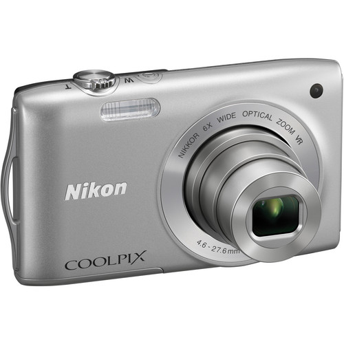 Nikon Coolpix S3300 Digital Camera (Silver)