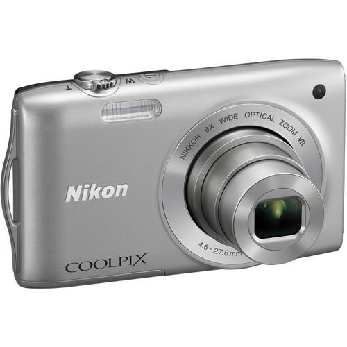 Nikon Coolpix S3300 Digital Camera (Silver)