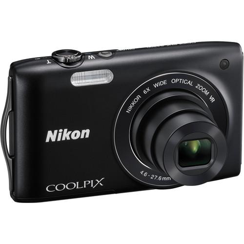 Nikon Coolpix S3300 Digital Camera (Black)