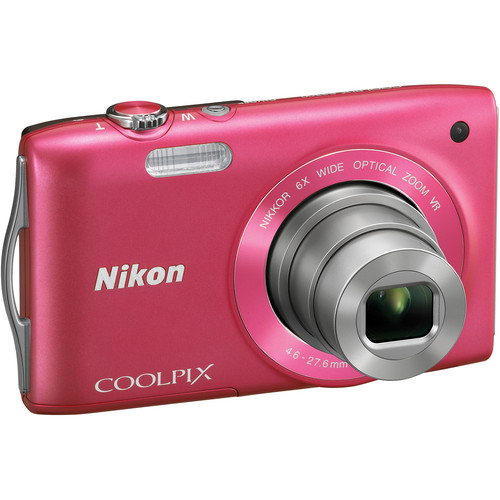 Nikon Coolpix S3300 Digital Camera (Pink)