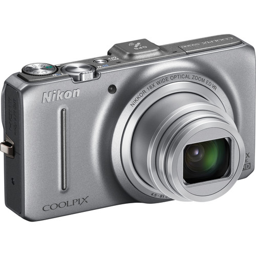 Nikon Coolpix S9300 Digital Camera (Silver)