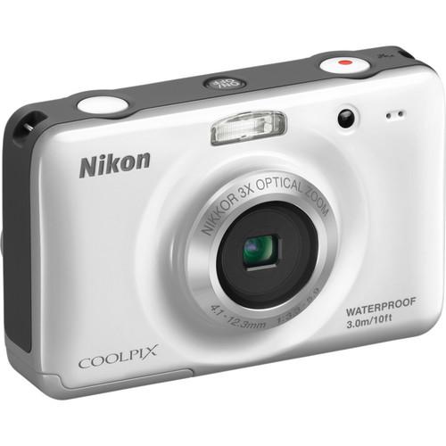 Nikon Coolpix S30 Digital Camera (White)