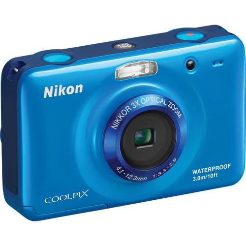Nikon Coolpix S30 Digital Camera (Blue)