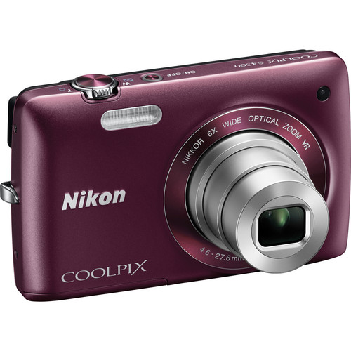 Nikon Coolpix S4300 Digital Camera (Plum)
