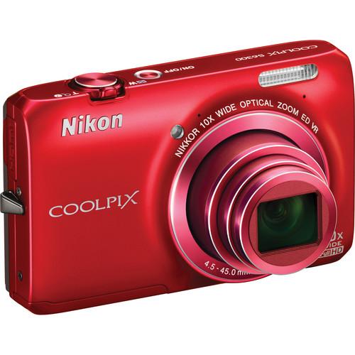 Nikon Coolpix S6300 Digital Camera (Red)