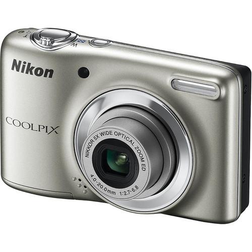 Nikon Coolpix L25 Digital Camera (Silver)