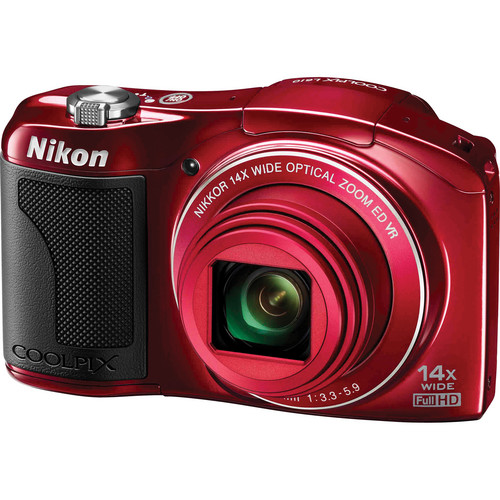 Nikon COOLPIX L610 Digital Camera (Red)