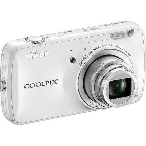 Nikon COOLPIX S800c Digital Camera (White)