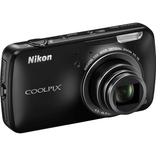 Nikon COOLPIX S800c Digital Camera (Black)