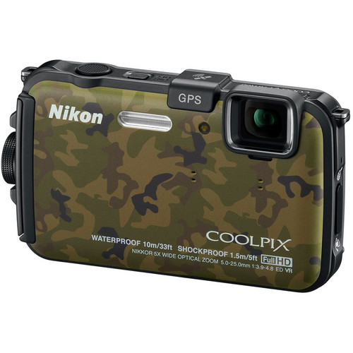 Nikon Coolpix AW100 Waterproof Digital Camera (Camouflage)