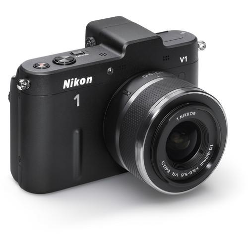 Nikon 1 V1 Mirrorless Digital Camera with 10-30mm Lens (Black)