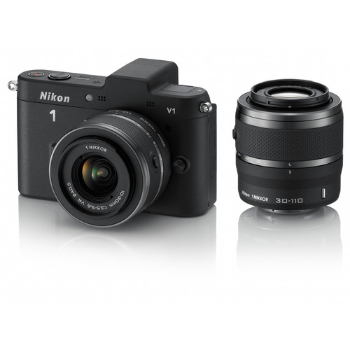 Nikon Nikon 1 V1 Mirrorless Digital Camera with 10-30mm and 30-110mm Lenses (Black)