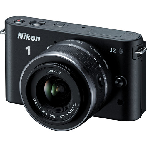 Nikon 1 J2 Mirrorless Digital Camera with 10-30mm VR Zoom Lens (Black)