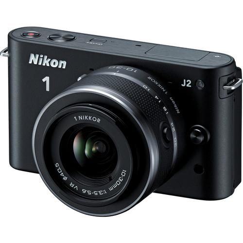 Nikon 1 J2 Mirrorless Digital Camera with 10-30mm VR Zoom Lens (Black)