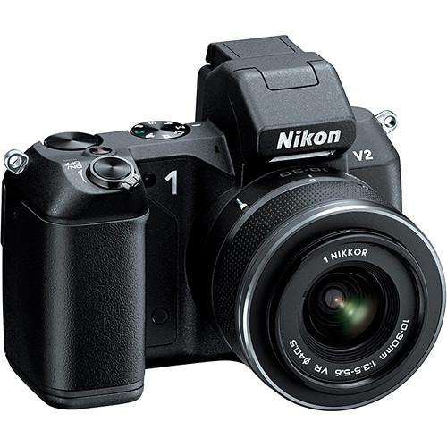 Nikon 1 V2 Mirrorless Digital Camera with 1 NIKKOR VR 10-30mm f/3.5-5.6 Lens Kit (Black)