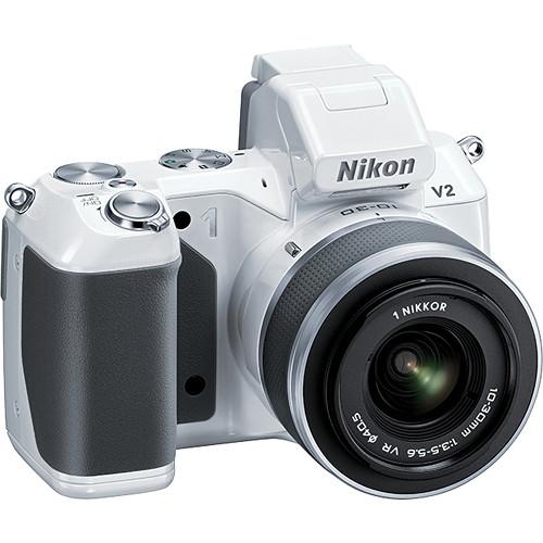 Nikon Nikon 1 V2 Mirrorless Digital Camera with 1 NIKKOR VR 10-30mm f/3.5-5.6 Lens Kit (White)