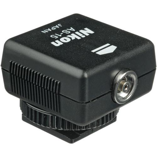 Nikon AS-15 Sync Terminal Adapter (Hot Shoe to PC)
