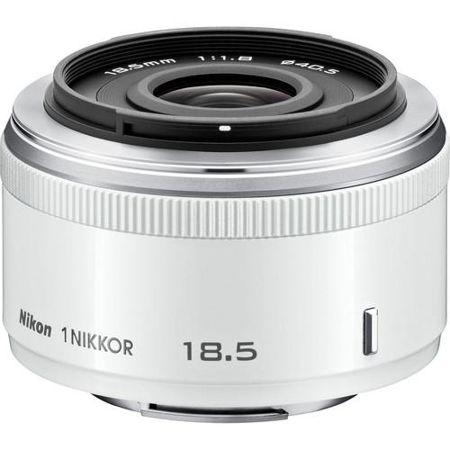 Nikon 1 NIKKOR 18.5mm f/1.8 Lens (White)