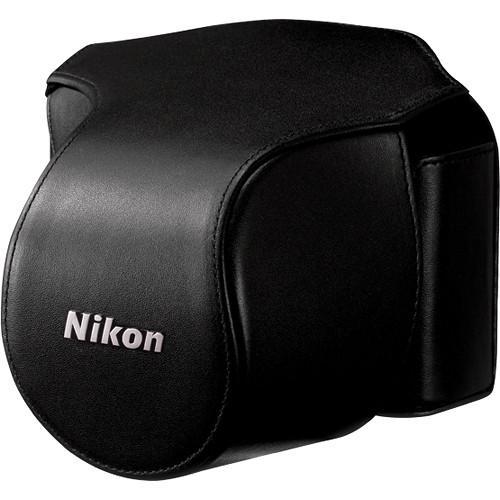 Nikon Leather Body Case Set for Nikon 1 V1 Digital Camera with VR 10-30mm Lens (Black)