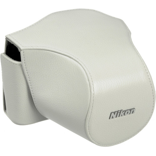 Nikon Leather Body Case Set for Nikon 1 V1 Digital Camera with VR 10-30mm Lens (White)
