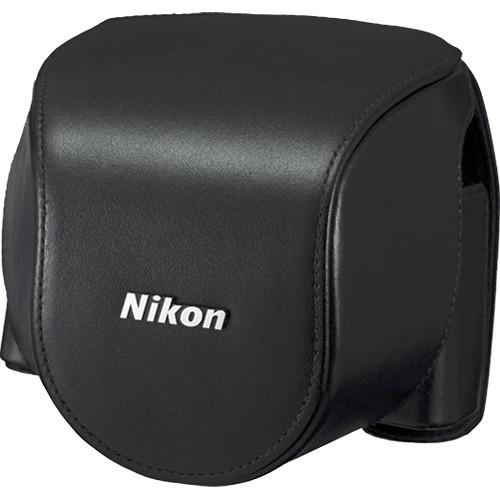 Nikon CB-N4000A Leather Body Case Set For Nikon 1 V2 Camera and 1 NIKKOR 10-30mm Lens (Black)