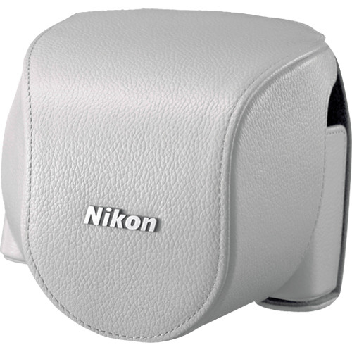 Nikon CB-N4000B Leather Body Case Set For Nikon 1 V2 Camera and 1 NIKKOR 10-30mm Lens (White)