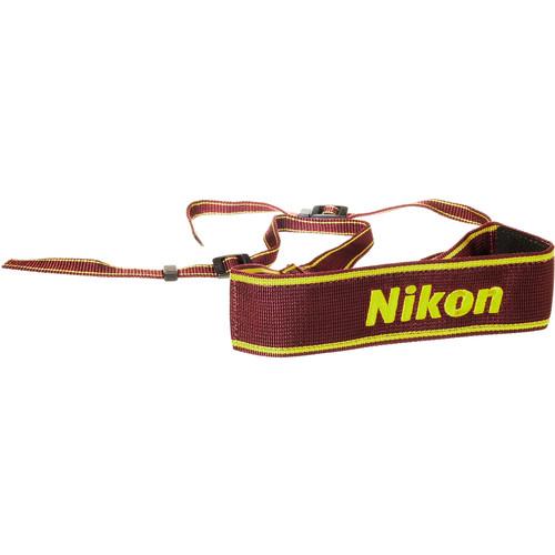Nikon AN-6W Nylon Wide Neck Strap (Wine)