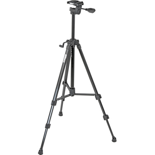 Nikon Full Size Tripod w/ Quick Release 3-Way Head (Black)