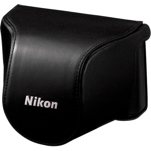 Nikon Leather Body Case Set for Nikon 1 J1 Camera with 10-30mm Lens (Black)