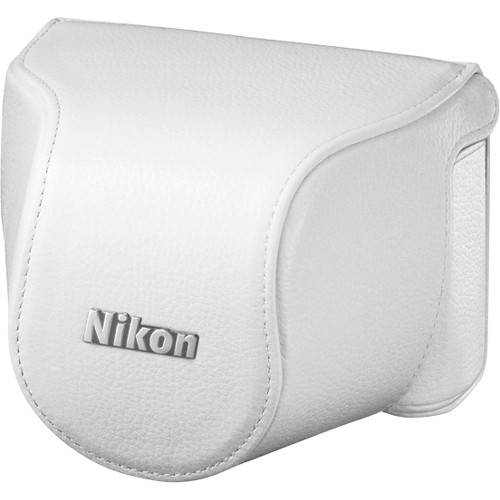 Nikon Leather Body Case Set for Nikon 1 J1 Camera with 10-30mm Lens (White)