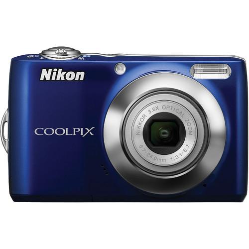 Nikon Coolpix L22 Digital Camera (Blue) with Accessory Kit