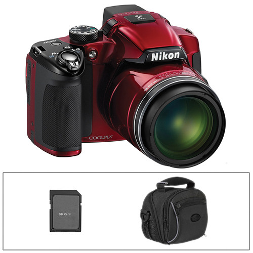 Nikon Coolpix P510 Digital Camera (Red) with Basic Accessory Kit