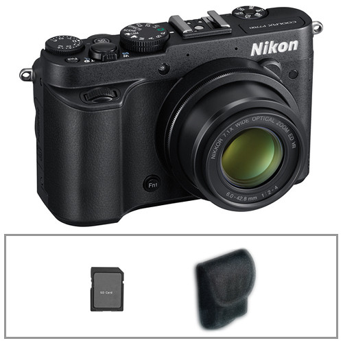 Nikon COOLPIX P7700 Digital Camera with Basic Accessory Kit (Black)