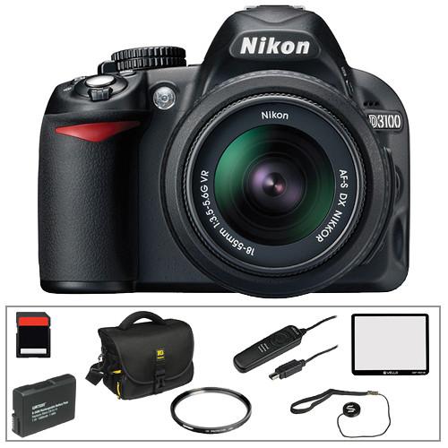 Nikon D3100 Digital SLR Camera w/18-55mm VR Lens and Basic Accessory Kit