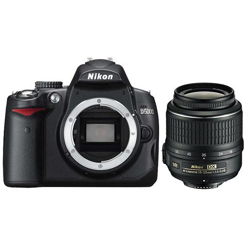 Nikon D5000 Digital SLR Camera w/ 18-55mm f/3.5-5.6G VR AF-S DX  Kit