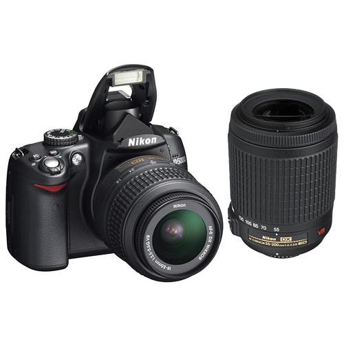 Nikon D5000 Digital SLR Camera Kit with 18-55mm VR & 55-200mm VR Lenses