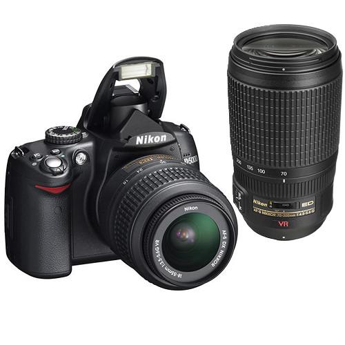 Nikon D5000 Digital SLR Camera Kit with 18-55mm VR & 70-300mm VR Lenses