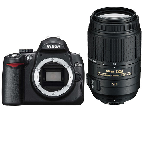 Nikon D5000 Digital SLR Camera Kit with 55-300mm VR Lens