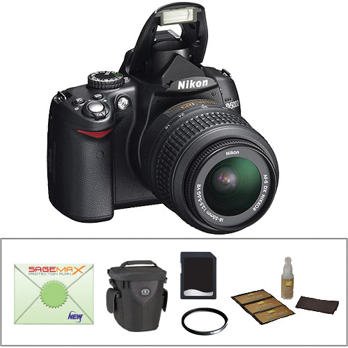 Nikon D5000 SLR Digital Camera w/ 18-55mm VR Lens & Essential Kit