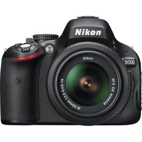 Nikon D5100 Digital SLR Camera Deluxe Kit with 18-55mm & 55-200mm VR Lenses