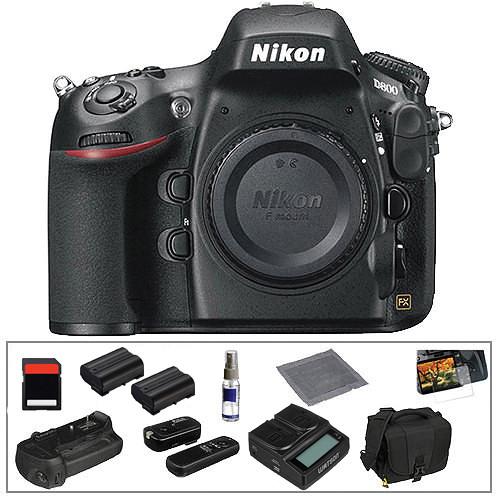 Nikon D800 Digital SLR Camera Body Deluxe Kit