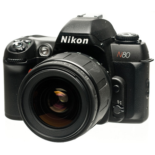 Nikon N80 35mm Auto Focus Camera with a Tamron 28-80mm 3.5-5.6 AF-D Lens