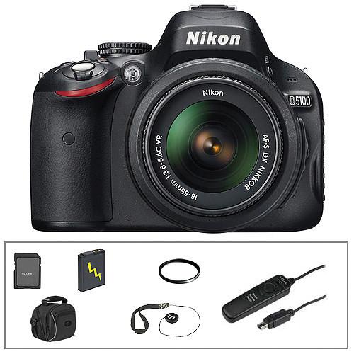 Nikon D5100 DSLR Essentials Kit with 18-55mm VR Lens