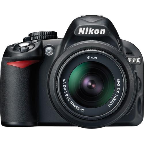 Nikon [Refurbished] D3100 Digital SLR Camera w/18-55mm VR Lens Deluxe Accessory Kit