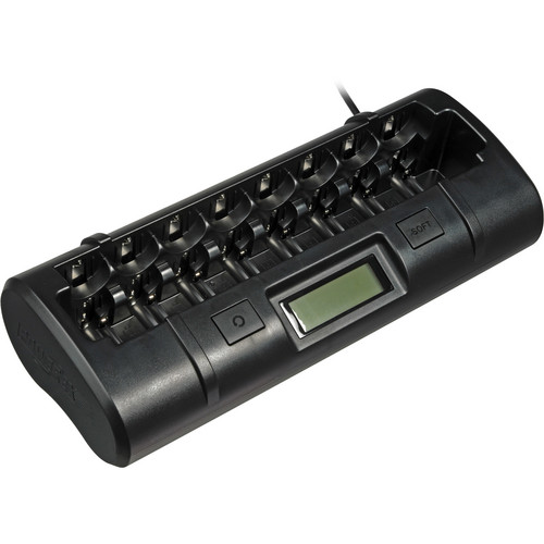 Nocturnal Lights MH-C808M Ultimate Pro Charger for 8 AA/AAA/C/D NiMH/NiCD Batteries