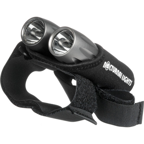 Nocturnal Lights Dual M2 LED Tactical Back-Up Dive Lights w/ Neoprene Hand Mount