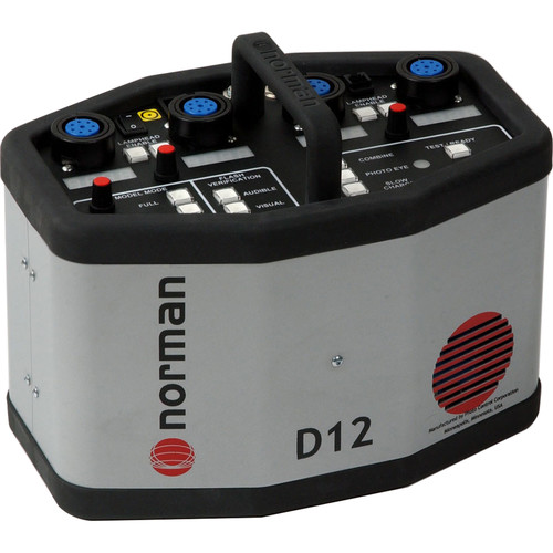 Norman 1200 Watt/Second D12 2 Head Kit